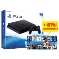 SONY PLAYSTATION 4 SLIM 1TB (PS4 SLIM) + 10 ИГР