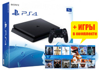 SONY PLAYSTATION 4 SLIM 1TB (PS4 SLIM) +15 ИГР