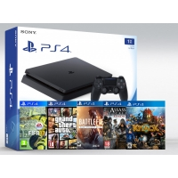 SONY PLAYSTATION 4 SLIM 1TB (PS4 SLIM) +25 ИГРЫ