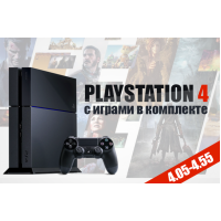 Б/У SONY PLAYSTATION 4 500GB [OFW 4.05] + 10 ИГР НА ВЫБОР