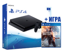 SONY PLAYSTATION 4 SLIM 1TB (PS4 SLIM) + Battlefield 1