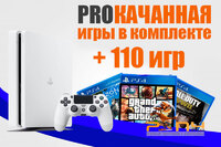 SONY PLAYSTATION 4 SLIM 1TB (PS4 SLIM) White + 110 ИГР