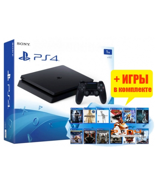 SONY PLAYSTATION 4 SLIM 1TB (PS4 SLIM) + 30 ИГР