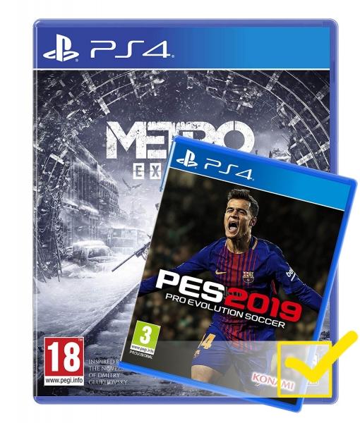 METRO EXODUS + PES 2019 игра [PS4]